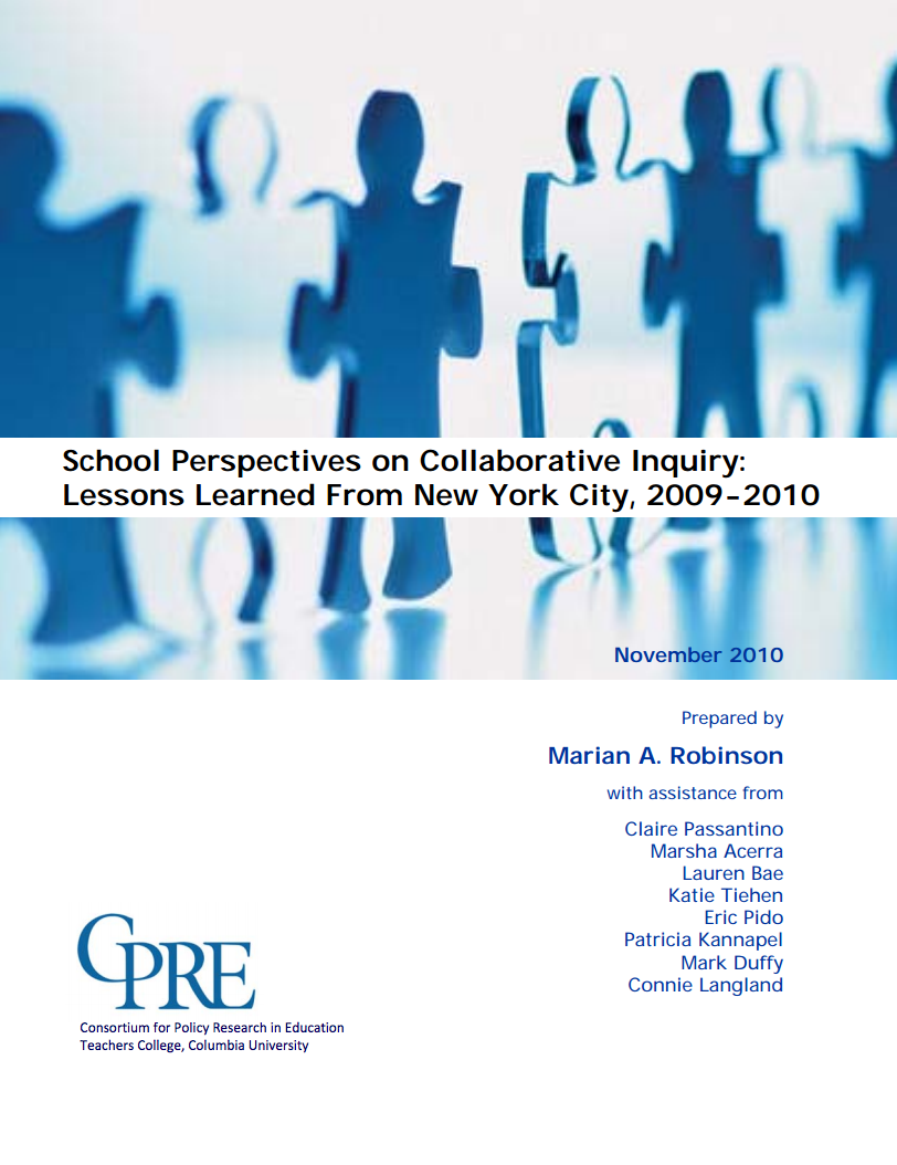 Collaborative Teaching Nyc ~ School perspectives on collaborative inquiry lessons