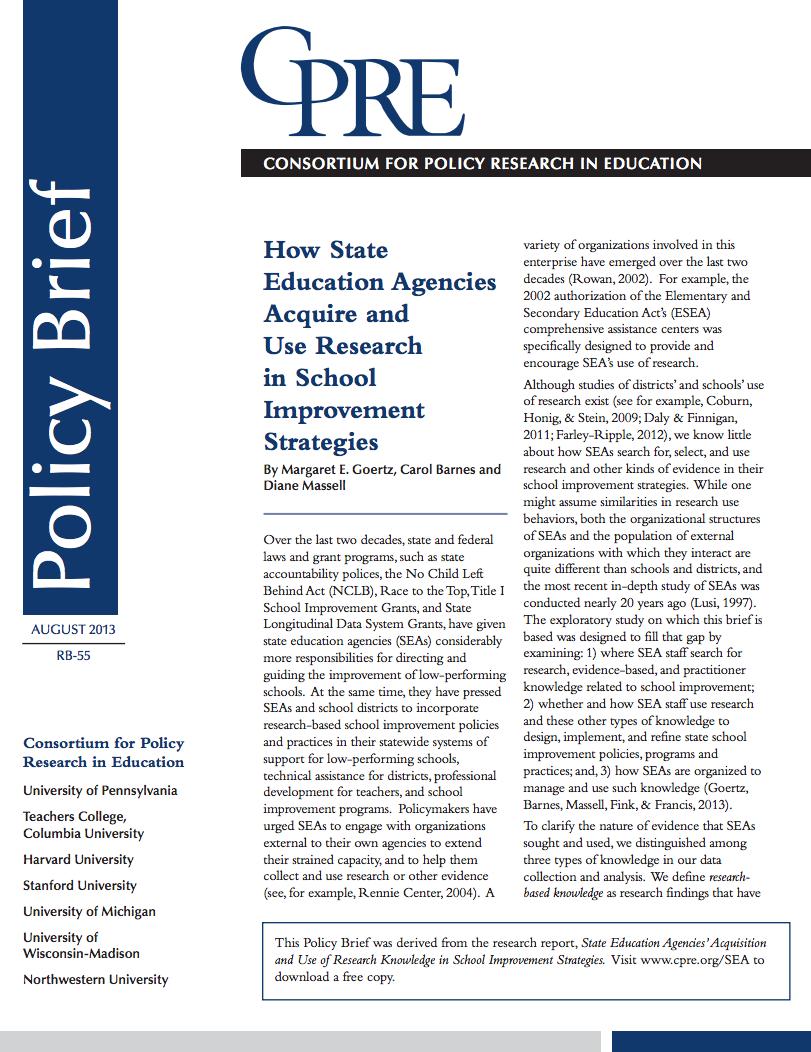 policy brief example template - how state education agencies acquire and use research in
