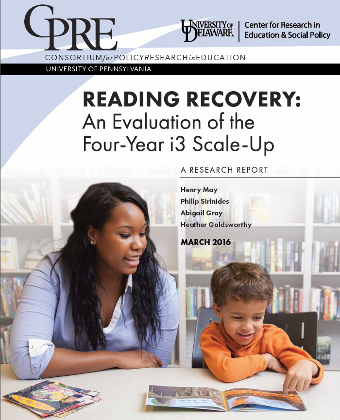 reading recovery research paper Research & evaluation what works clearinghouse i3 scale-up  a reconstruction of reading recovery for first graders who are receiving emergent literacy.